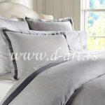 siva posteljina od pamuka sa trakama