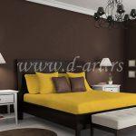 žuta posteljina od pamuka