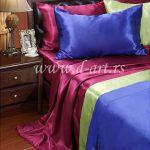posteljine od satena boje