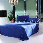 kraljevsko plava nijansa posteljine od svilenog satena