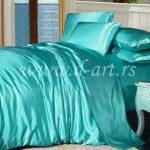 tirkiz posteljina od satena