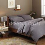 jednobojna pamučna posteljina