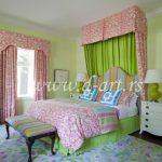 baldahini za decu u zeleno roze kombinaciji