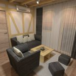 zavese natural wood apartman