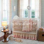 posteljina za bebe u roze bež nijansama