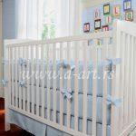 plava dvodelna posteljina za decu