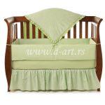 zelena decija posteljina