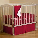 crvena decija posteljina za dreveni krevetac