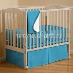 plava decija posteljina sa dva lica