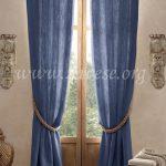 plave lan zavese od pamuka