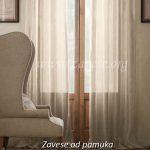 pamucne zavese u bez boji