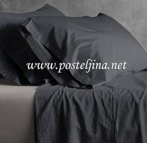 Crna posteljina za singl krevet
